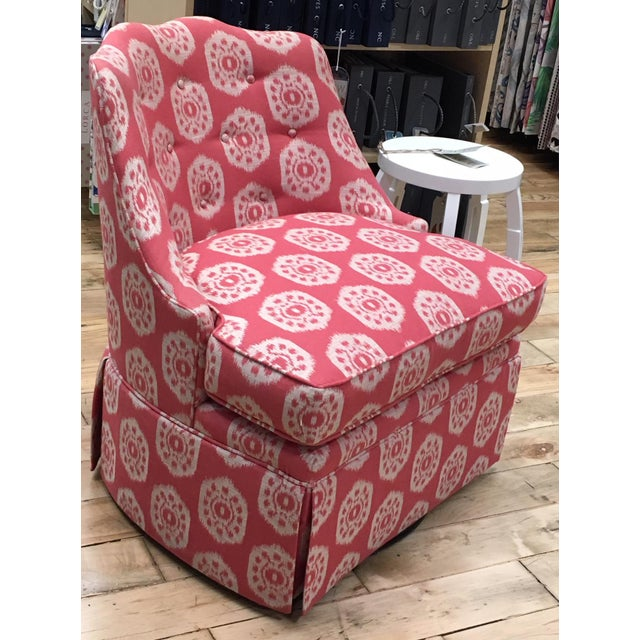 Thibaut Thibaut Brentwood Swivel Chair Showroom Sample For Sale - Image 4 of 6