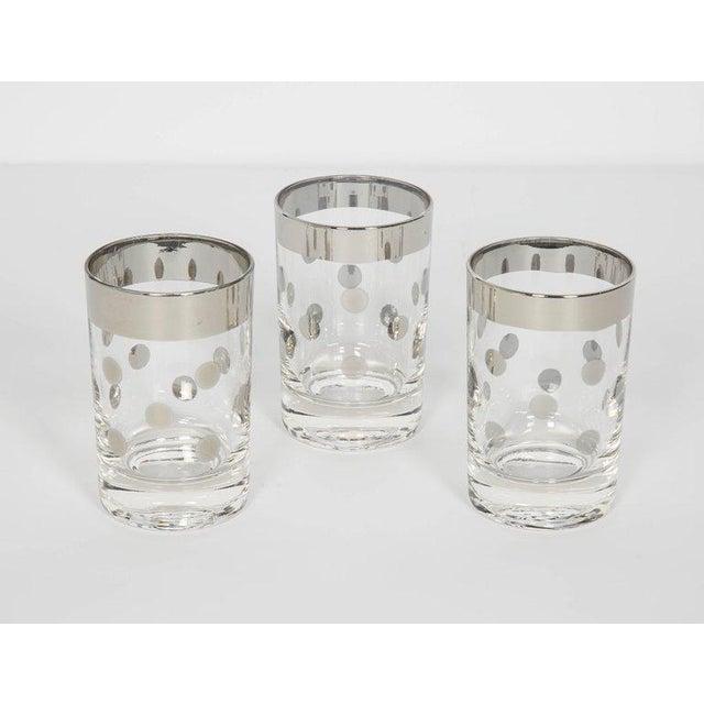 Art Deco Set of Six Vintage Silvered Liqueur Barware Glasses Designed by Dorothy Thorpe For Sale - Image 3 of 5