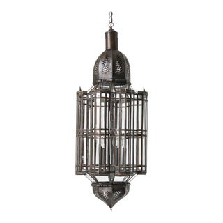 Large Clear Glass Moorish Alhambra Pendant Chandelier, Clear Glass For Sale