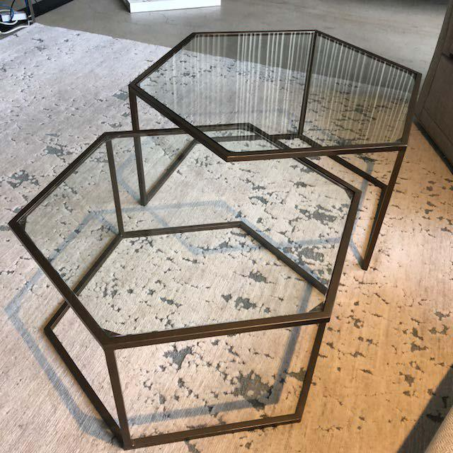 Contemporary Contemporary Nesting Cocktail Tables - A Pair For Sale - Image 3 of 7
