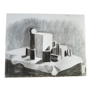 Shapes Charcoal Drawing For Sale