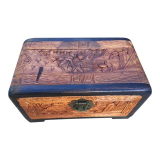 Vintage Tabletop Asian Camphor Box For Sale