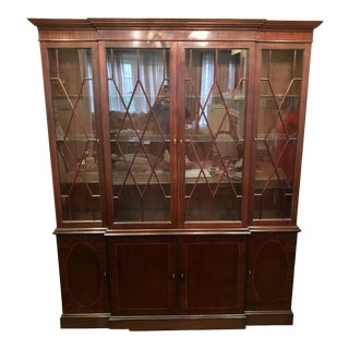 Federal Baker Furniture Mahongany Breakfront For Sale
