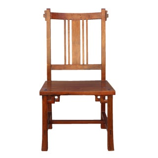 Quality Handmade Brown Color Solid Wood Bar Back Simple Design Chair
