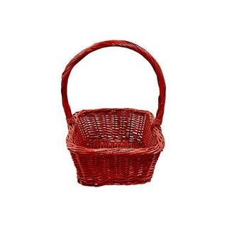 Red Woven Rattan Rectangular Basket Preview