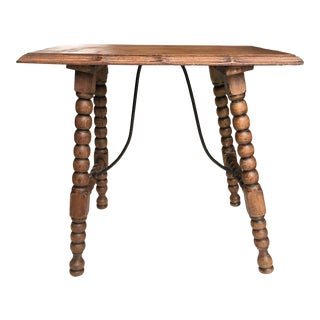 19th Century Baroque Spanish Side Table, End Table For Sale