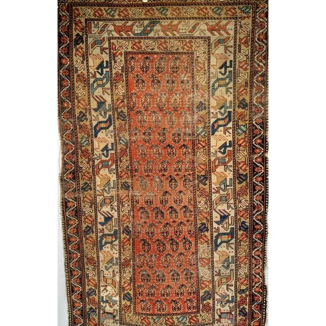 19th Century Kazak Rug 3′1″ × 5′6″ For Sale - Image 10 of 13