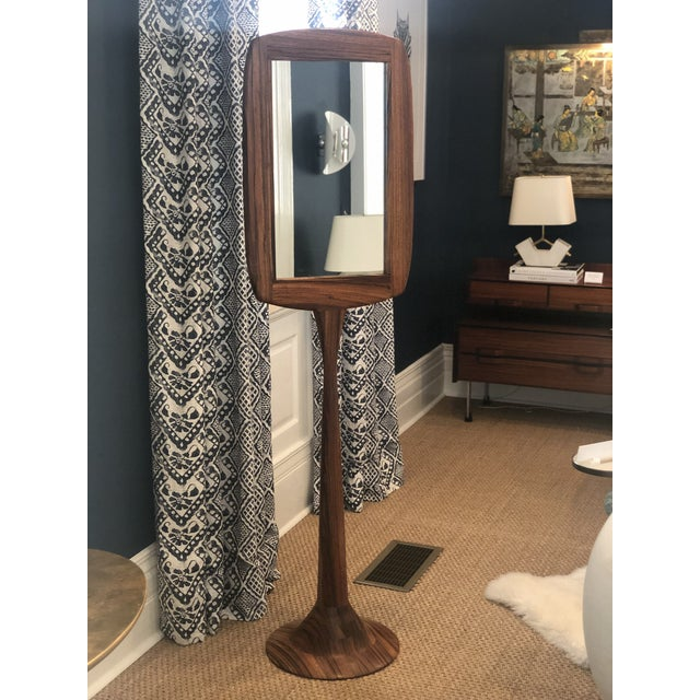 Modern Oak Standing Mirror For Sale - Image 3 of 3