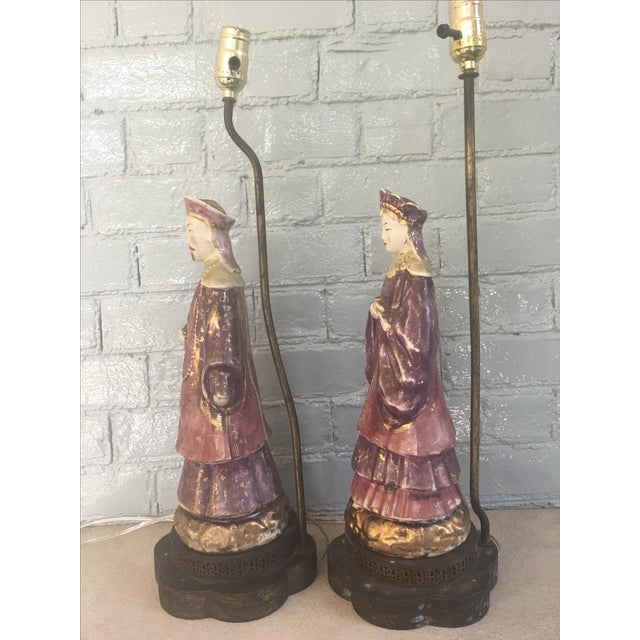 Chinese Ancestral Figural Lamps - Pair - Image 9 of 10