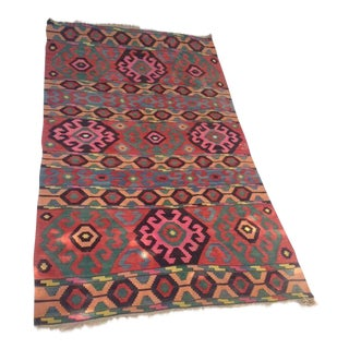 Anatolian Kilim Scorpion Designed Rug - 6′1″ × 11′2″ For Sale