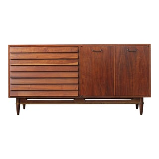 1960s Mid-Century Modern Merton Gershun for American of Martinsville Dania Credenza For Sale