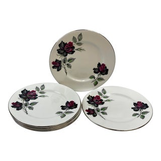 Vintage Royal Albert Masquerade Bread & Butter / Dessert Plates - Set of 6 For Sale