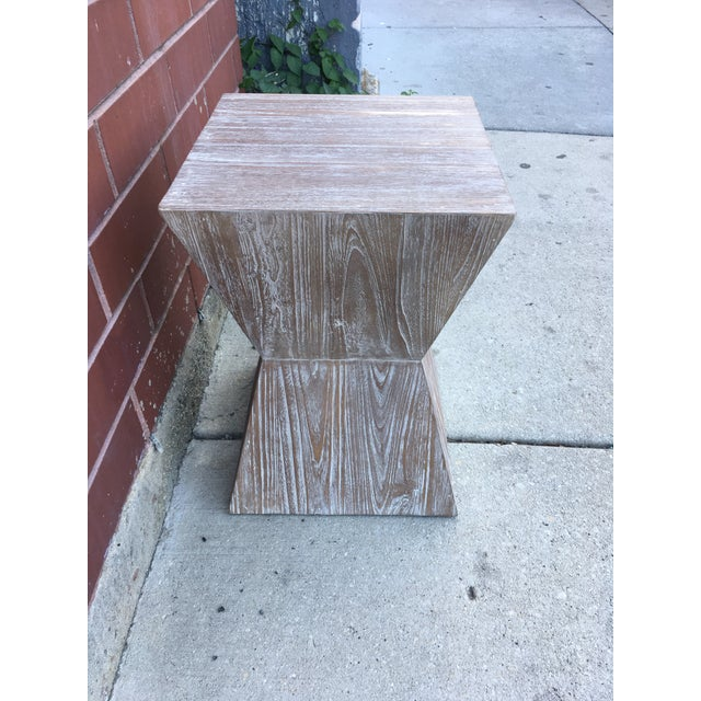 1970s Mid-Century Modern Cerused Oak Side Table For Sale - Image 4 of 6