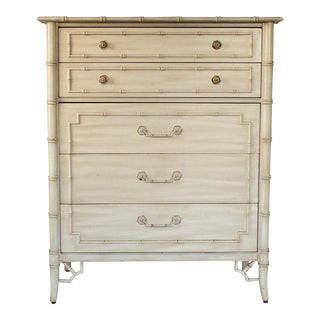 Thomasville Faux Bamboo Chest of Drawers For Sale