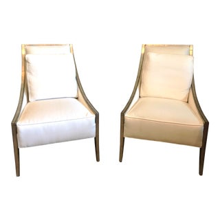 "Modern Caracole ""A Fine Line"" Chairs- A Pair For Sale"