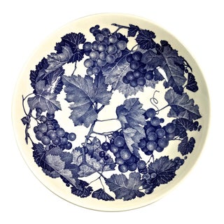 Blue & White Large Italian Salad Bowl For Sale