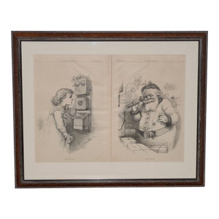"1884 ""Hello Santa"" Illustration by Thomas Nast for Harper's Weekly For Sale"