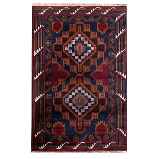 Tribal Handknotted Baluchi Rug - 2' 11 X 4' 8 For Sale