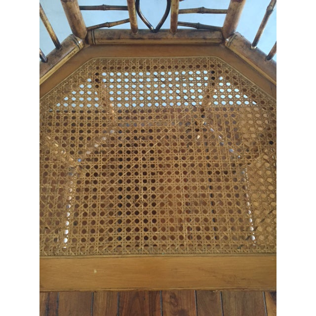 Vintage Bamboo Chinoiserie Accent Chair For Sale - Image 5 of 11