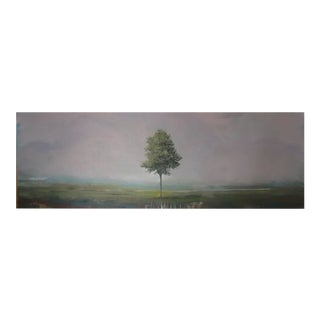 "Peter Hoffer ""Altar"" Landscape Painting on Wood For Sale"