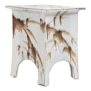 "1970s Tariki Studio ""Chan"" Ceramic Stool For Sale"