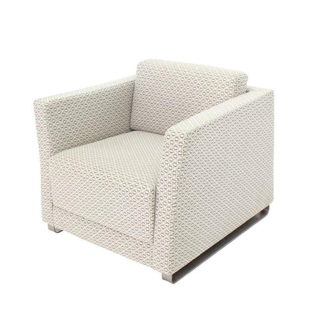 Pair of Bernhardt Upholstered Lounge Chairs For Sale - Image 9 of 9