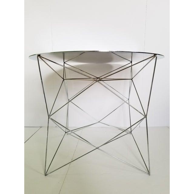 West Elm Industrial Polished Chrome Side Tables Chairish - West elm industrial side table