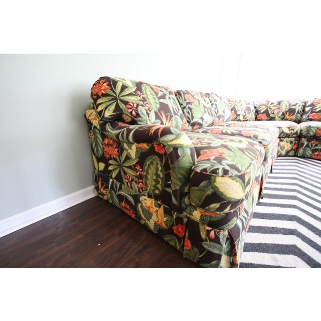 Drexel Heritage Tropical Print Sectional Sofa - Image 3 of 7
