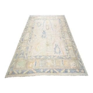 Oversized Turkish Modern Hand-Knotted Oushak Rug For Sale