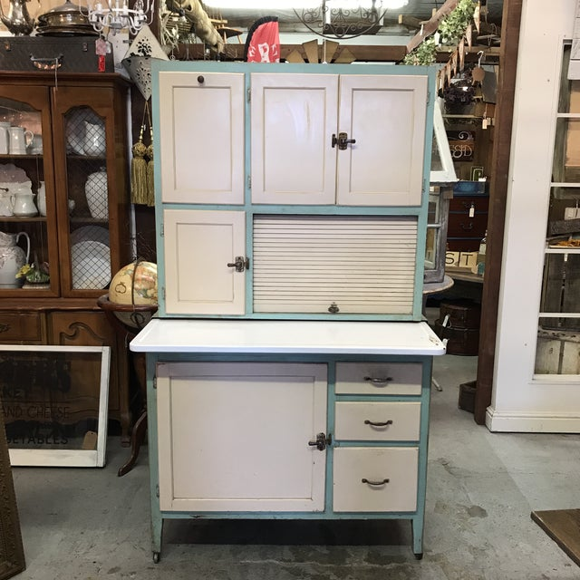 Early American Hoosier Style Kitchen Cabinet For Sale - Image 11 of 11