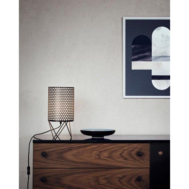 2010s Mid-Century Modern Joaquim Ruiz Millet White Aluminum 'Abc' Table Lamp For Sale - Image 5 of 6