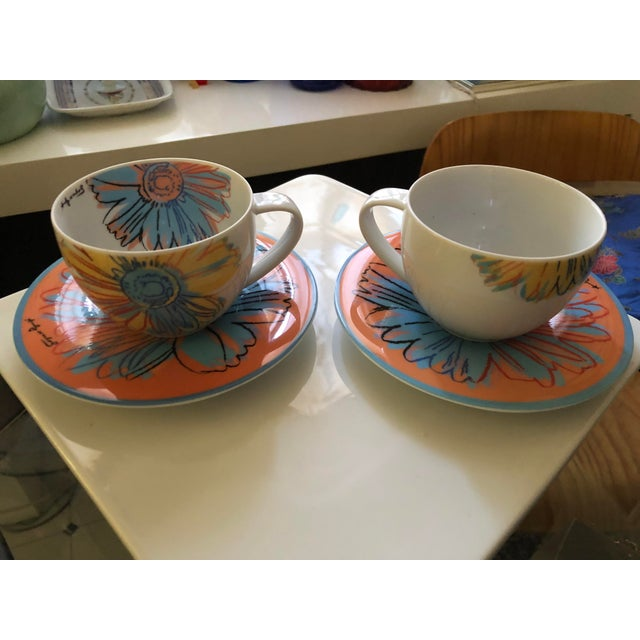 1970s Andy Warhol for Rosenthal Studio Line Daisy Tea Cup and Saucer Set For Sale - Image 5 of 6