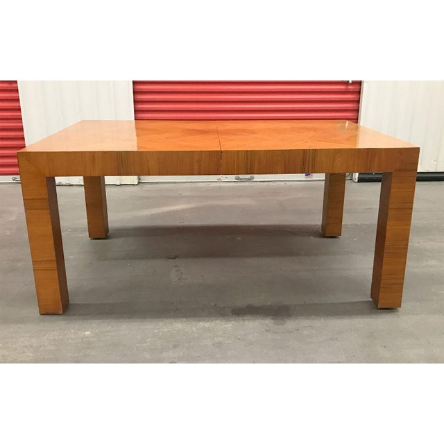 Milo Baughman for Thayer Coggin Mid-20th Century Milo Baughman / Thayer Coggin Burl Dining Table For Sale - Image 4 of 12
