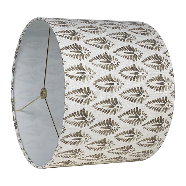 Boho Chic Brown Patterned Lamp Shade For Sale - Image 3 of 5