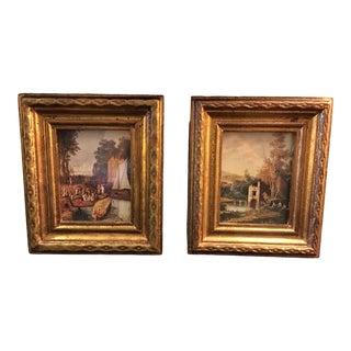Vintage Mid-Century Framed Italian Prints - A Pair For Sale