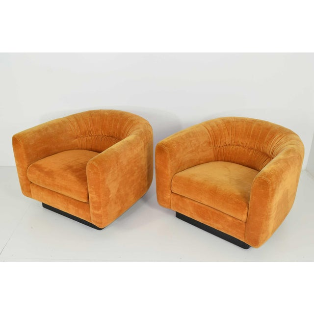 Pair of Milo Baughman Style Lounge Chairs by Metropolitan Furniture - Image 2 of 9