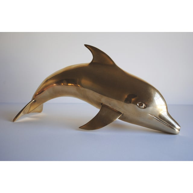 Large Vintage Brass Dolphin - Image 2 of 5