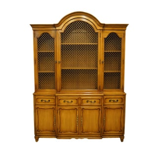 Late 20th Century Rway Furniture Country French Secretary Bookcase China Cabinet For Sale