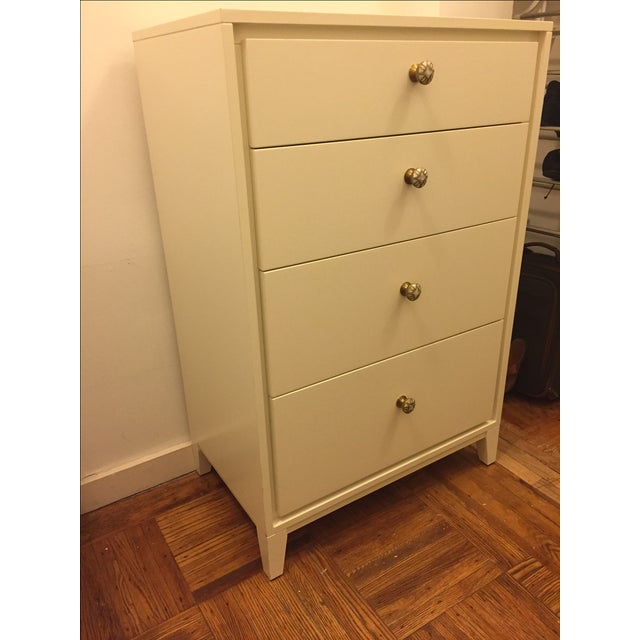 West Elm Niche 4-Drawer Dresser in White - Image 3 of 5