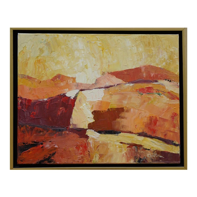 """Laurie MacMillan """"Red Hot"""" Abstract Landscape For Sale"""