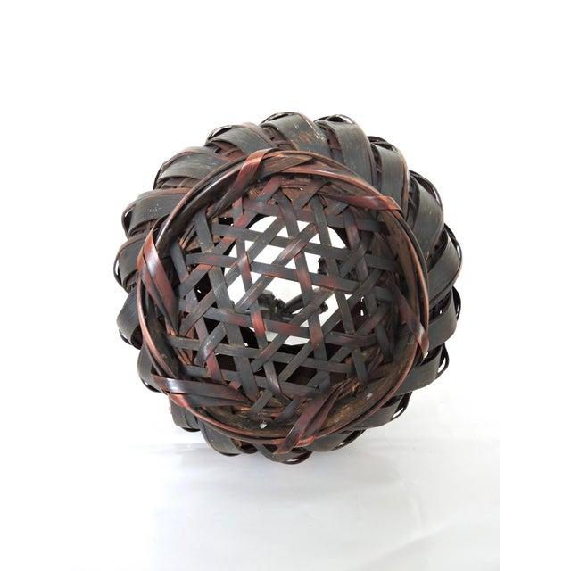 Gnarled Burl Wood and Split Bamboo Ikebana / Tea Ceremony Basket - Image 3 of 8