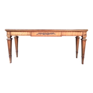 Weiman Gold Gilt Neoclassical Marble Top Table