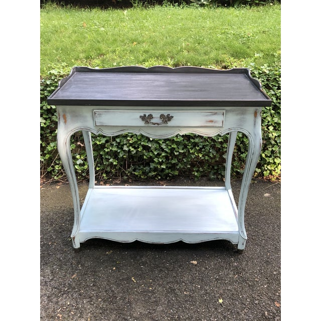 1960s French Provincial Rway Serving Table For Sale - Image 11 of 11