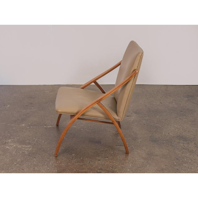 Swedish Armless Sculpted Lounge Chair For Sale - Image 4 of 10