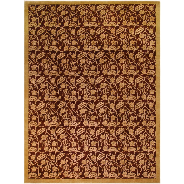 Kafkaz Peshawar Yolanda Red/Gold Wool Rug - 8'11 X 11'11 For Sale