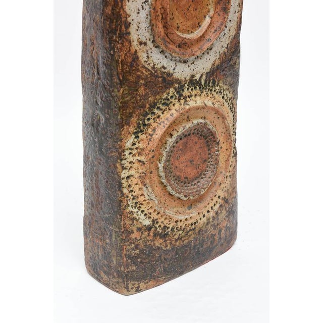 Brown Sculptured Vase by Alan Wallwork For Sale - Image 8 of 9
