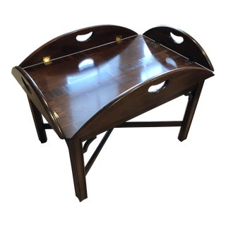 1990s Traditional Butler's Tray Table For Sale