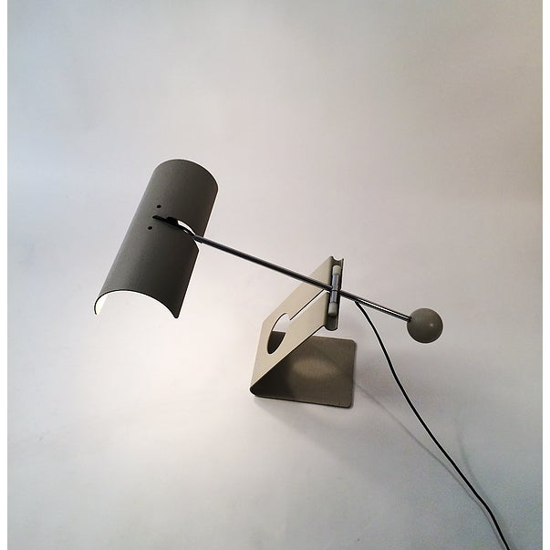 Picchio Lamp, Mauro Martini for F.IIi Martini. Beige paint & chrome. Purchased in Italy.