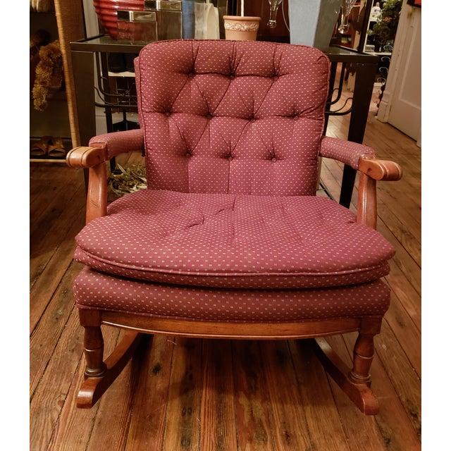 1960s Vintage Sam Moore Upholstered Rocking Chair For Sale - Image 10 of 10