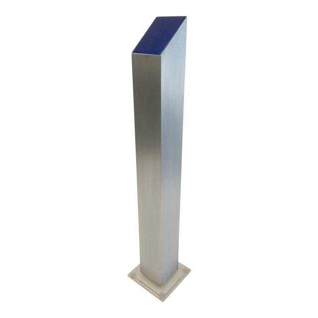1974 Stainless & Enamel Column Sculpture - Image 1 of 8
